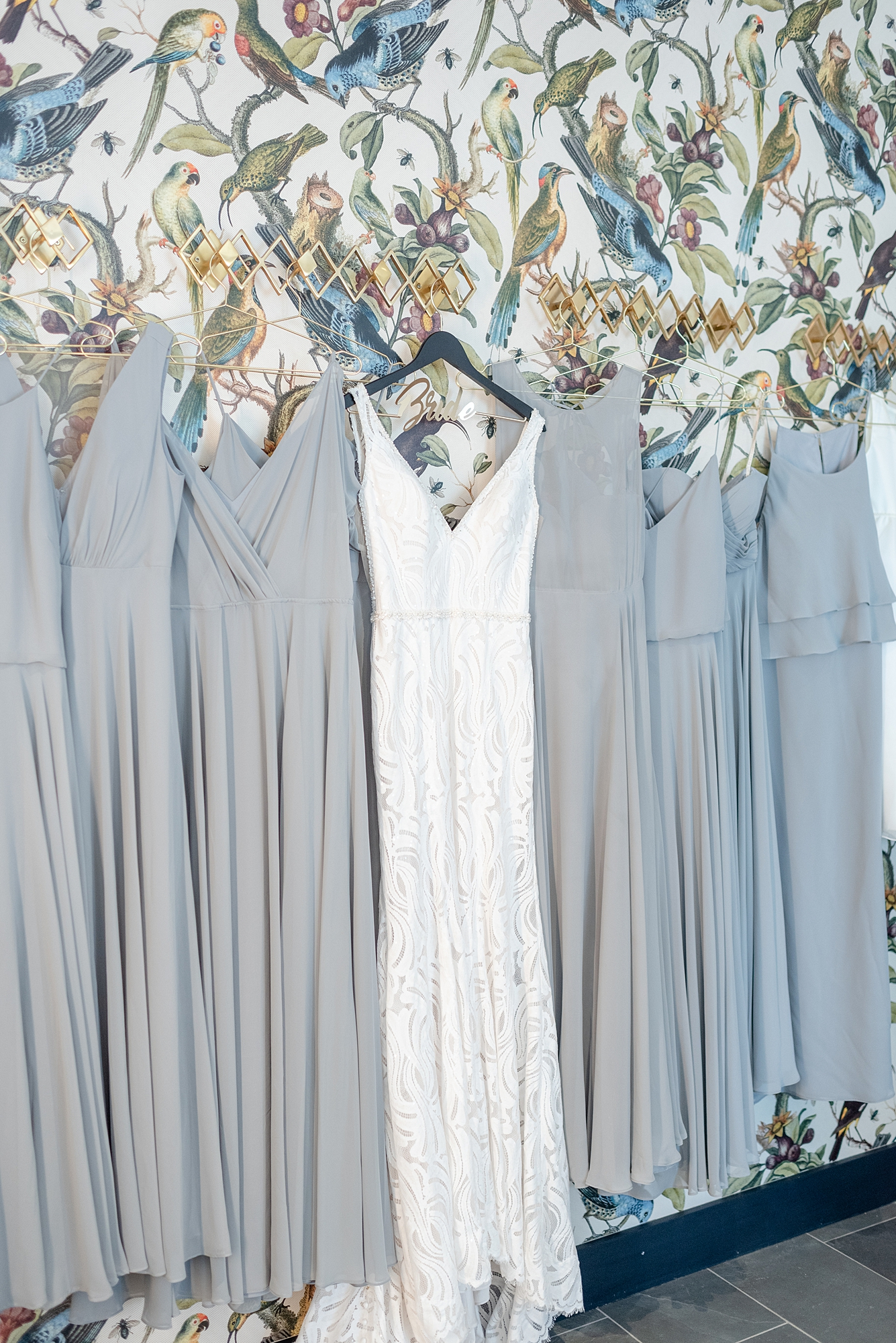Gray Wedding Dresses: Modern and Southern Wedding at the Clementine featured on Nashville Bride Guide
