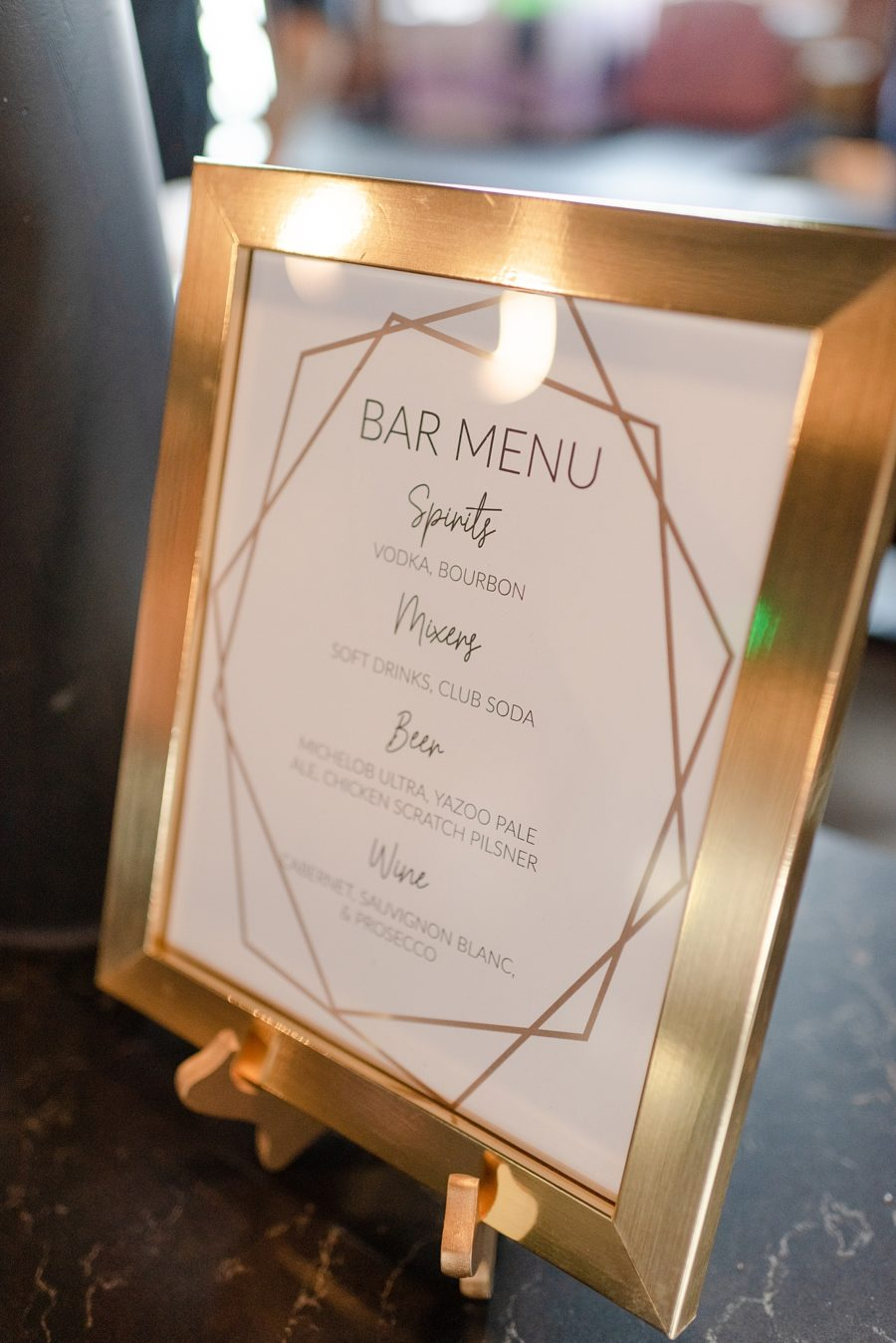 Gold Wedding Bar Sign: Modern and Southern Wedding at the Clementine featured on Nashville Bride Guide