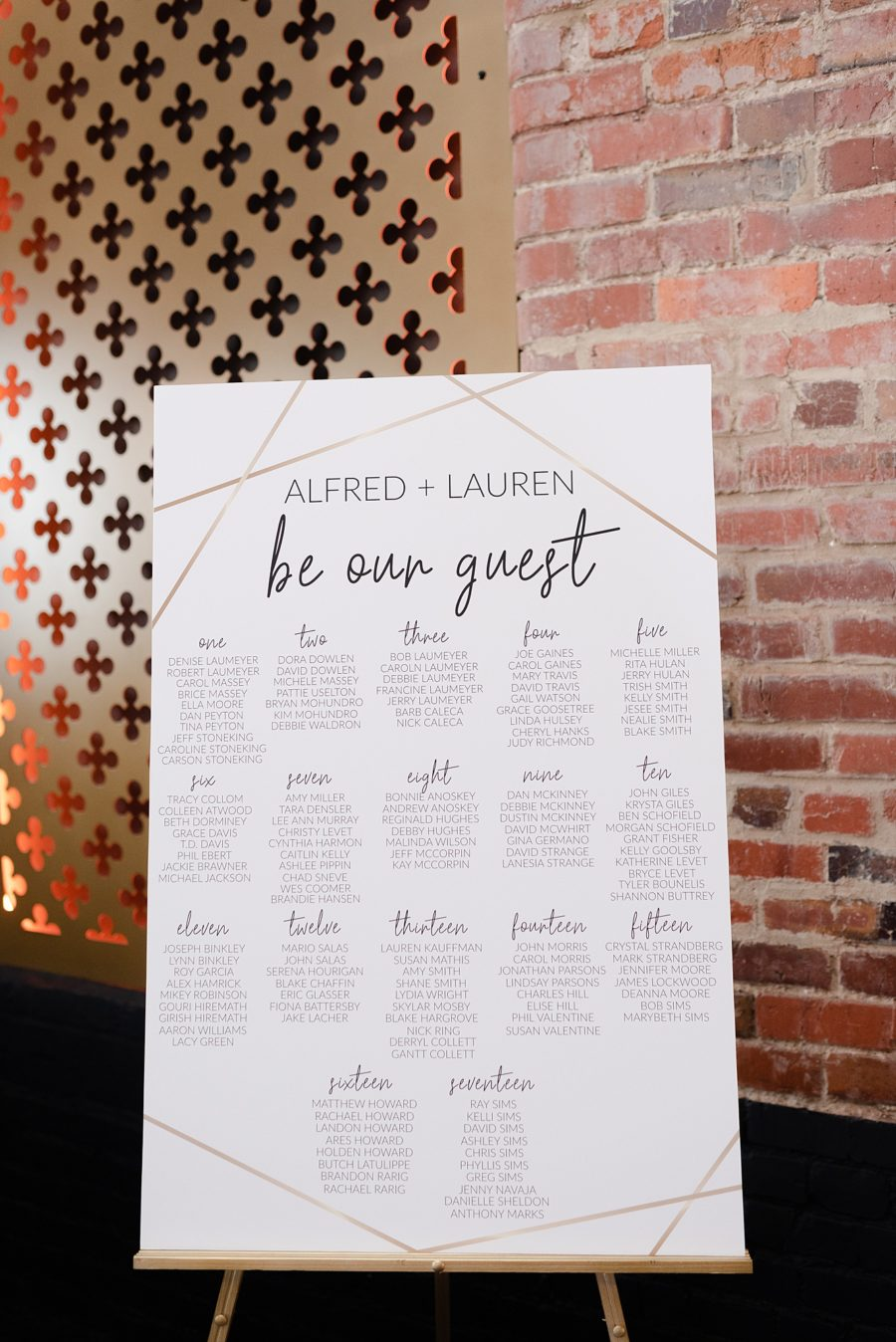 Wedding Seating Chart: Modern and Southern Wedding at the Clementine featured on Nashville Bride Guide