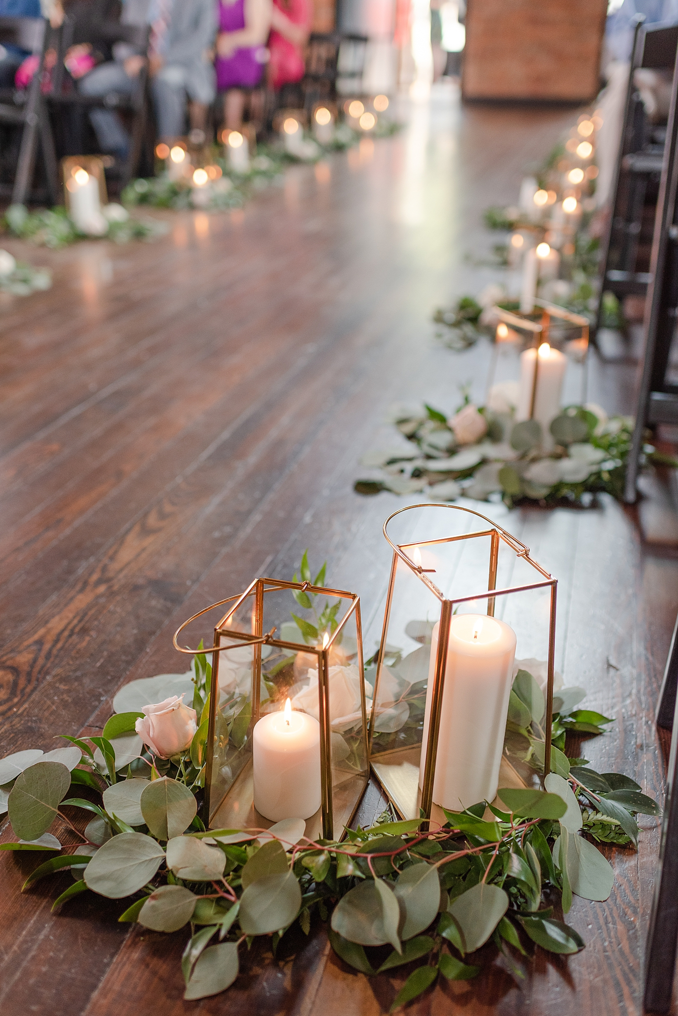 Wedding Ceremony Aisle Decor: Modern and Southern Wedding at the Clementine featured on Nashville Bride Guide