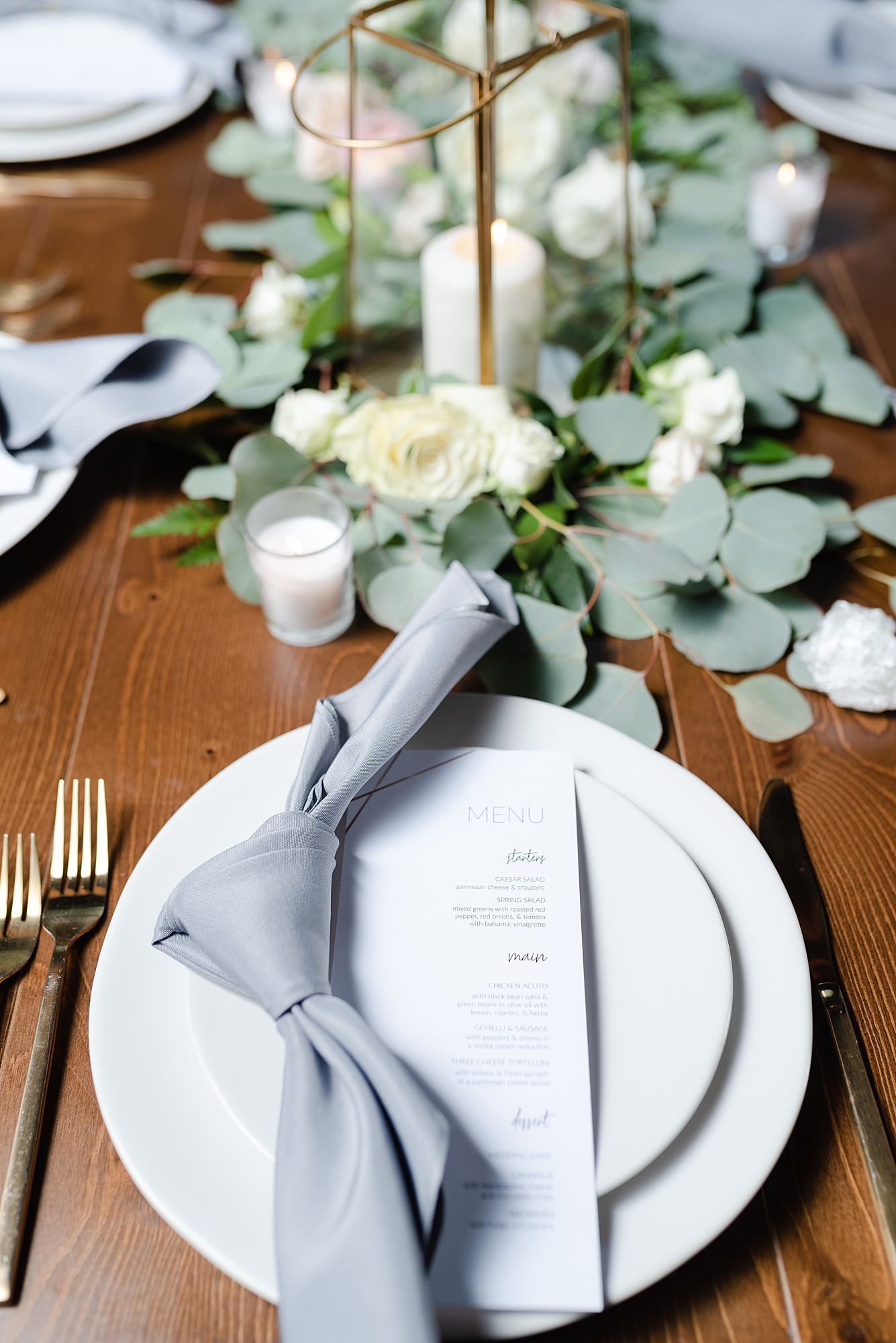 Wedding Place Setting: Modern and Southern Wedding at the Clementine featured on Nashville Bride Guide
