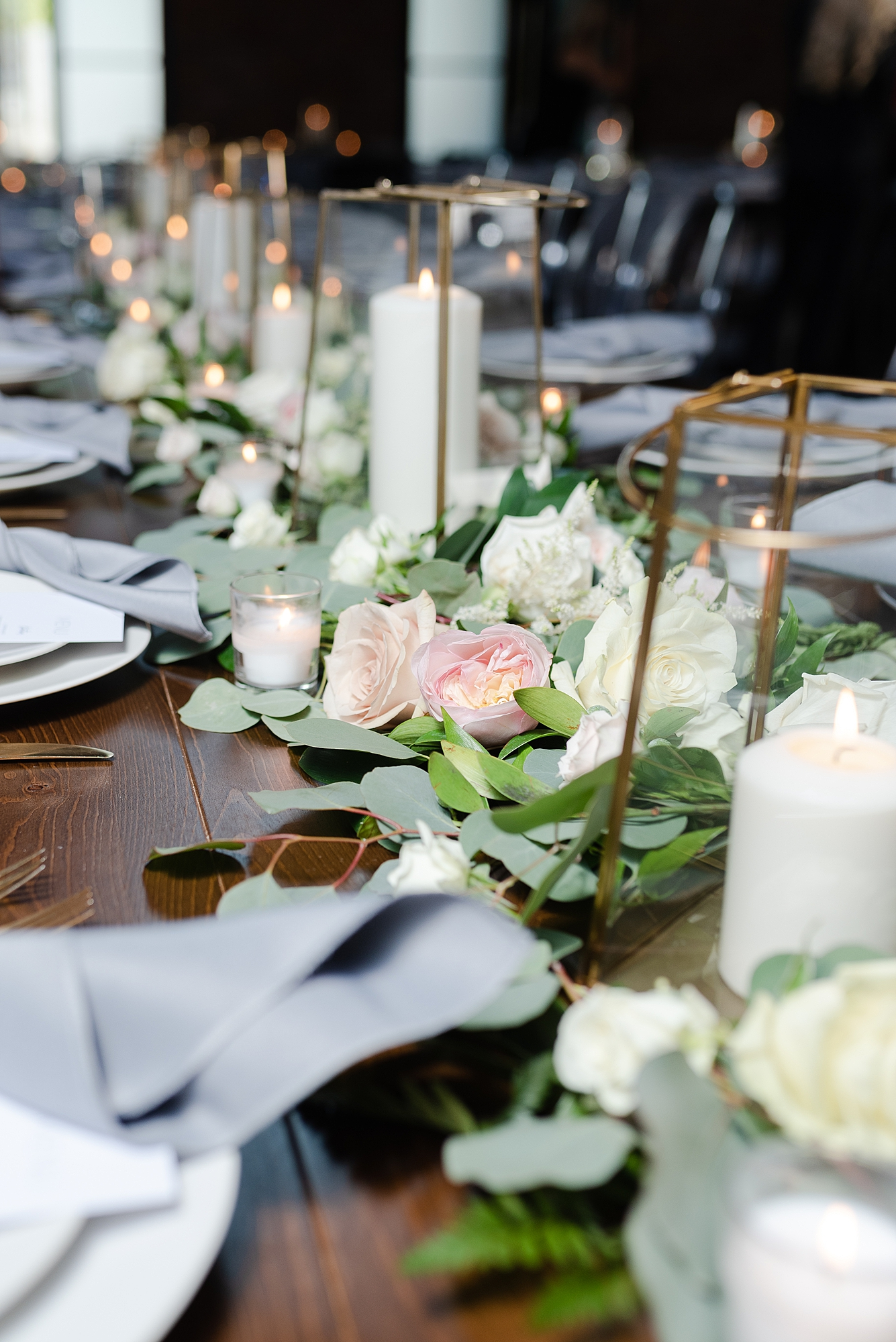 Wedding Centerpieces: Modern and Southern Wedding at the Clementine featured on Nashville Bride Guide