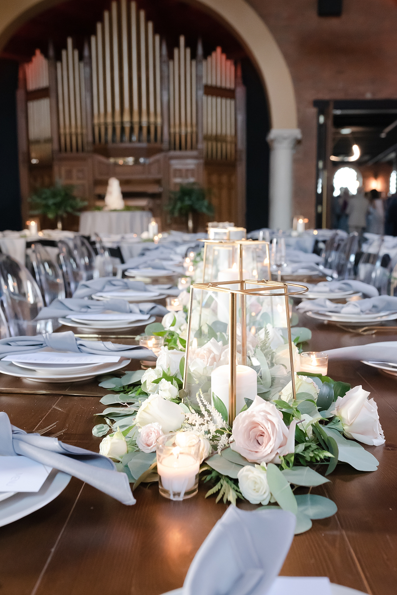 Lantern Wedding Centerpieces: Modern and Southern Wedding at the Clementine featured on Nashville Bride Guide