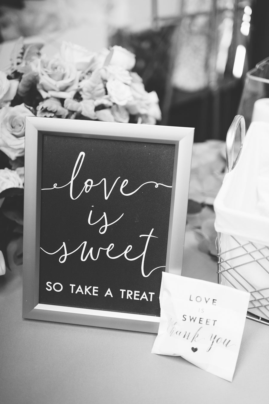 Wedding Dessert Sign: Modern and Southern Wedding at the Clementine featured on Nashville Bride Guide