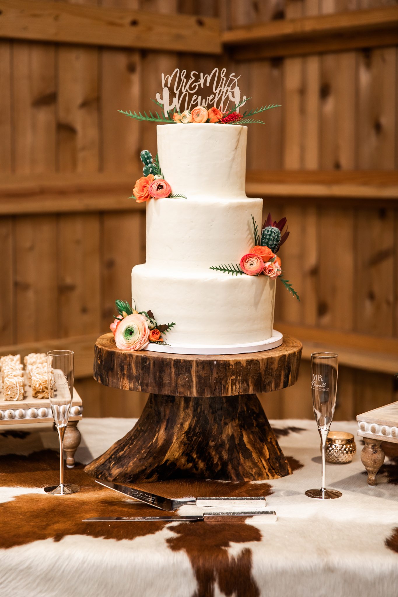 Rustic Wedding Cake: Desert Wedding Ideas featured on Nashville Bride Guide