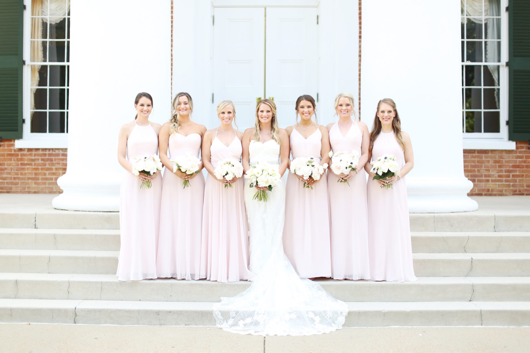 Pink Bridesmaid Dresses captured by Eliza Kennard Wedding Photography featured on Nashville Bride Guide