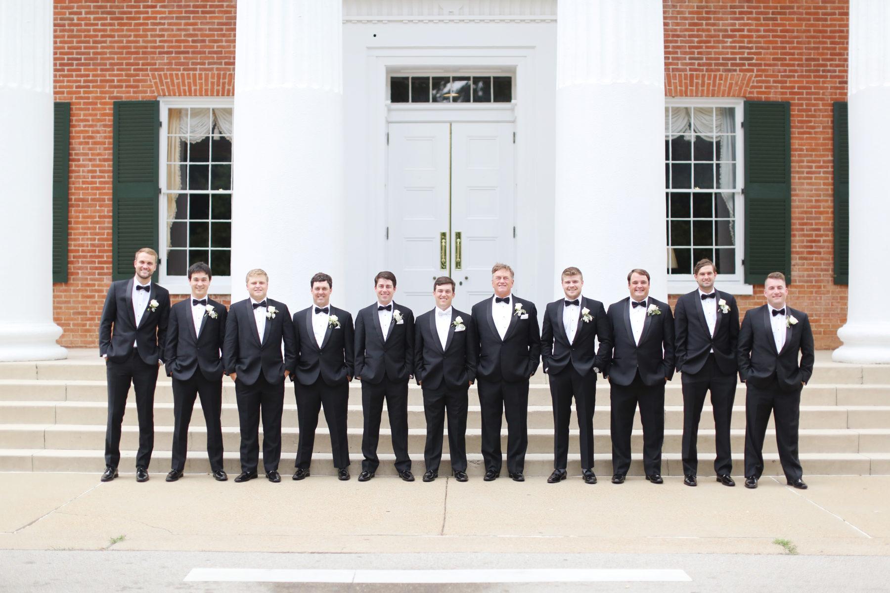 Black and White Wedding Tuxedo: Eliza Kennard Wedding Photography featured on Nashville Bride Guide