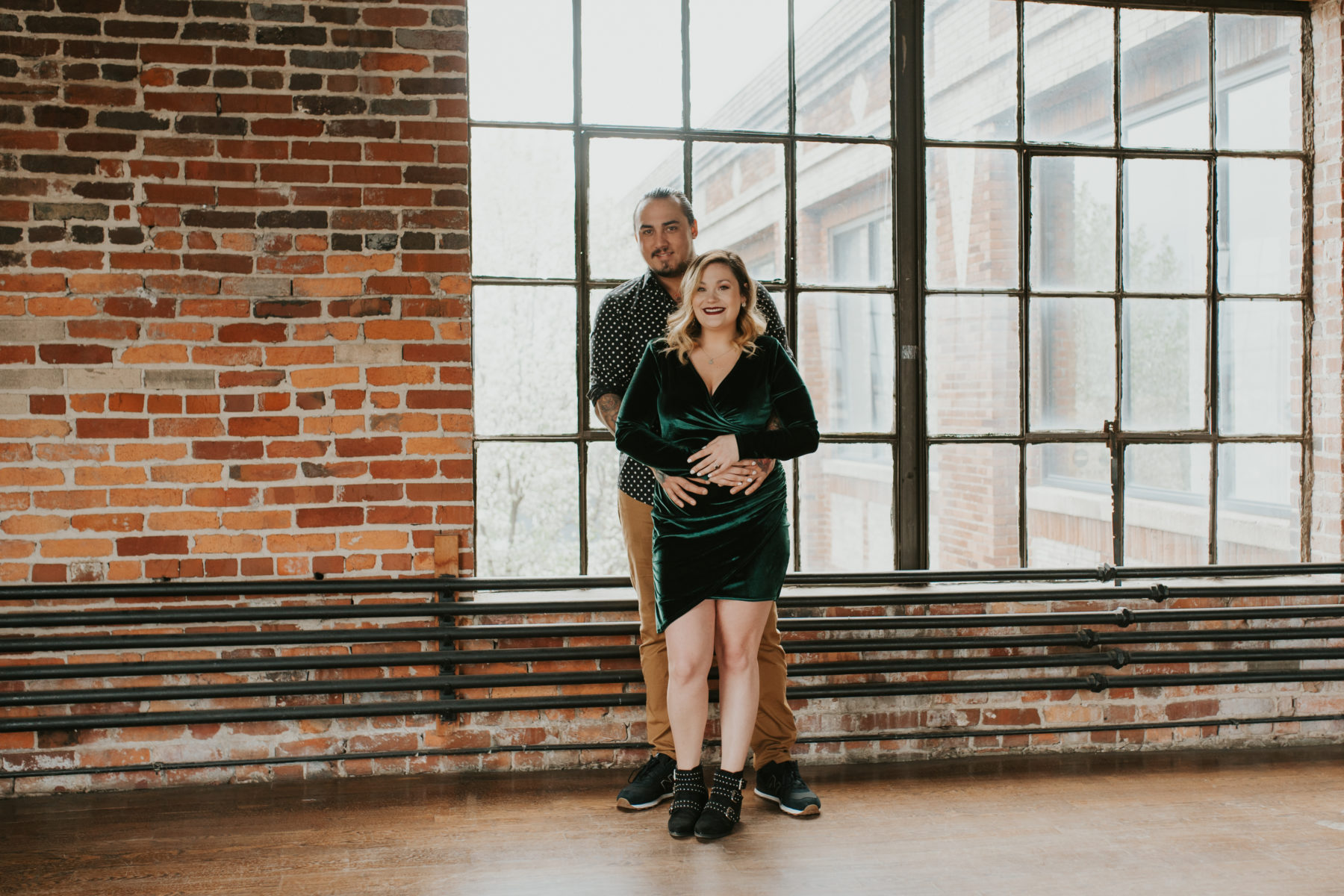Unique Engagement Session at Marathon Village featured on Nashville Bride Guide