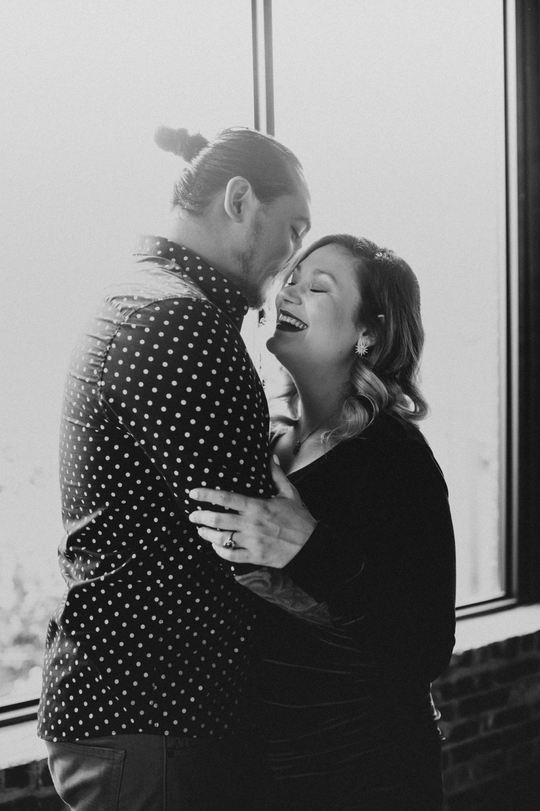 Unique Engagement Session at Marathon Village featured on Nashville Bride Guide