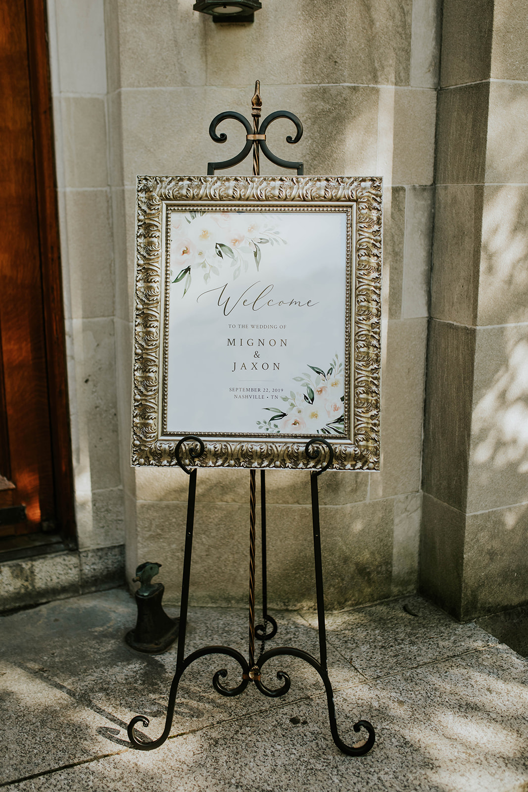 Wedding Welcome Sign: Through Victoria's Lens Photography featured on Nashville Bride Guide