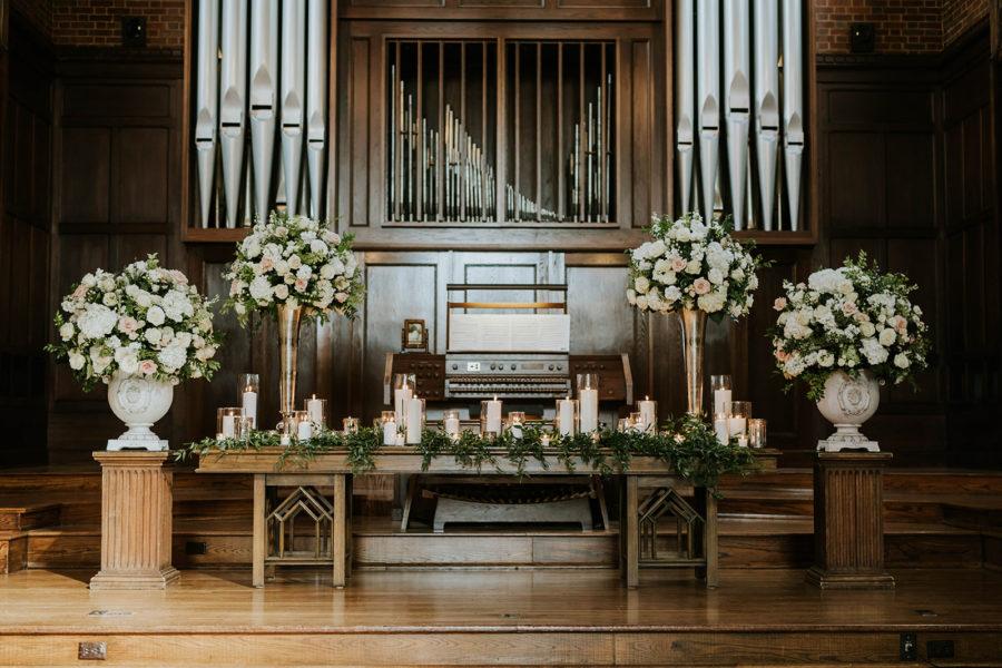 Wedding Ceremony Decor: Soft Pink Clementine Hall Wedding featured on Nashville Bride Guide