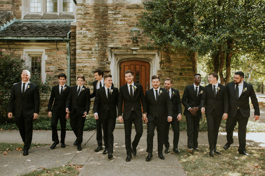 Grooms Attire: Soft Pink Clementine Hall Wedding featured on Nashville Bride Guide