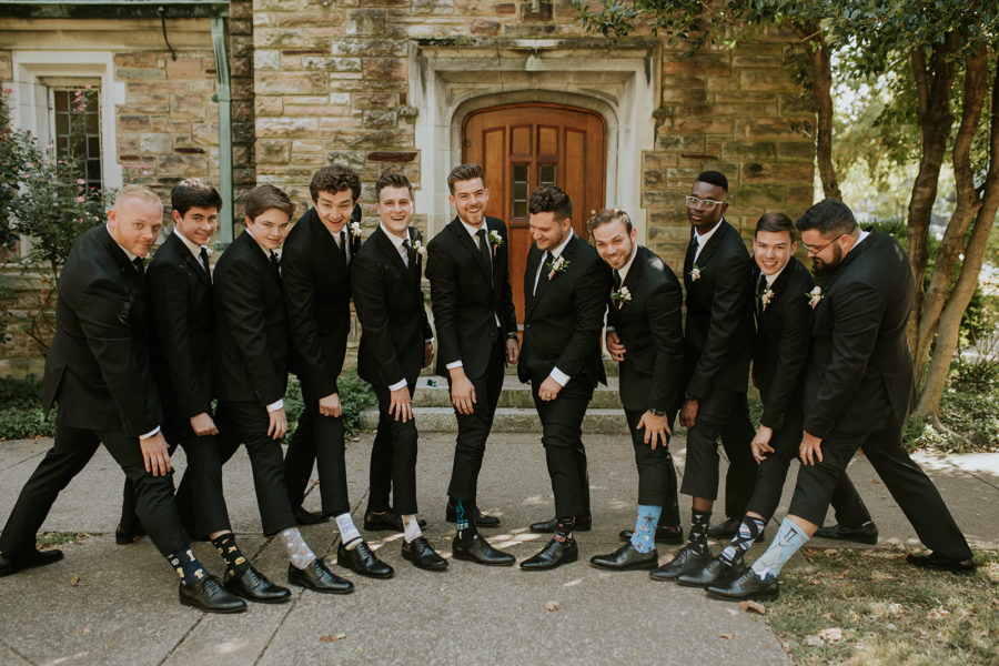 Groomsmen Socks: Soft Pink Clementine Hall Wedding featured on Nashville Bride Guide