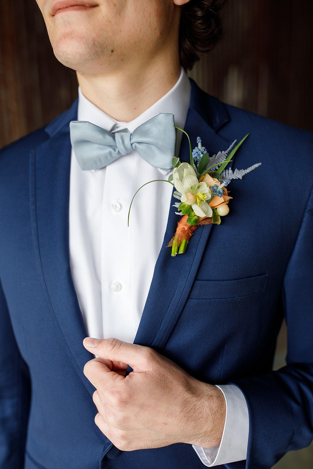 Blue Wedding Suit: Courtney Davidson Wedding Photography featured on Nashville Bride Guide