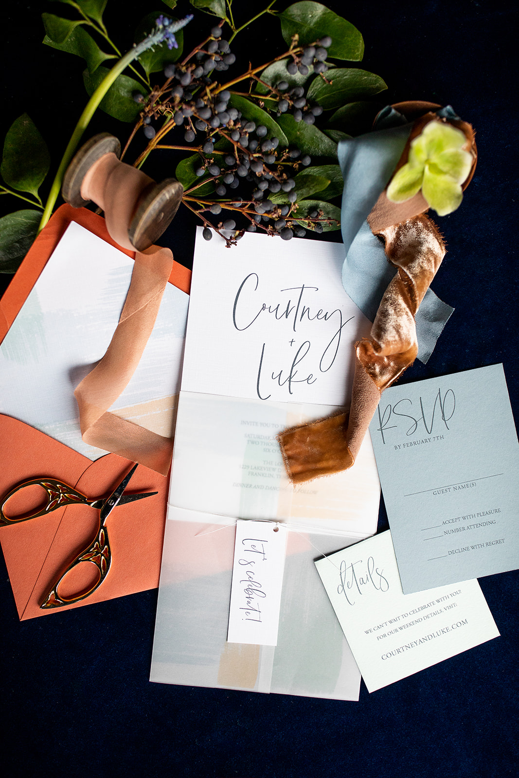 Wedding Invitation Suite: Southern Wedding Styled Shoot by Nashville Wedding Planners Group