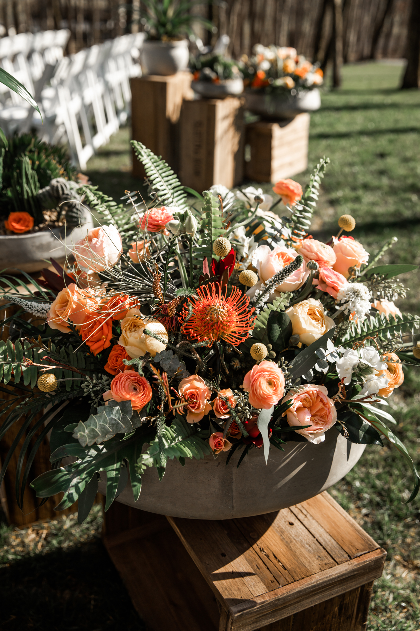 Orange wedding flowers: Western Inspired Wedding by Laurie D'Anne Events featured on Nashville Bride Guide