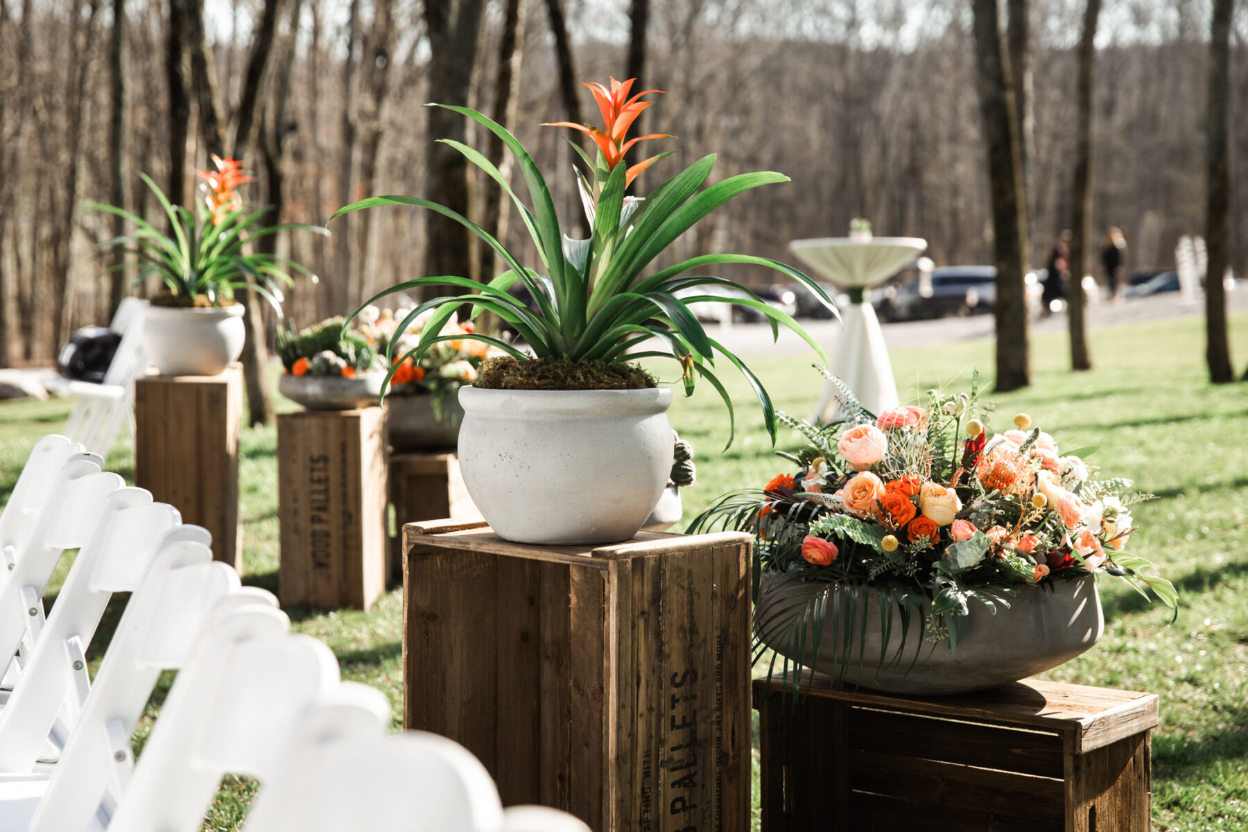 Wedding ceremony flowers decor: Western Inspired Wedding by Laurie D'Anne Events featured on Nashville Bride Guide