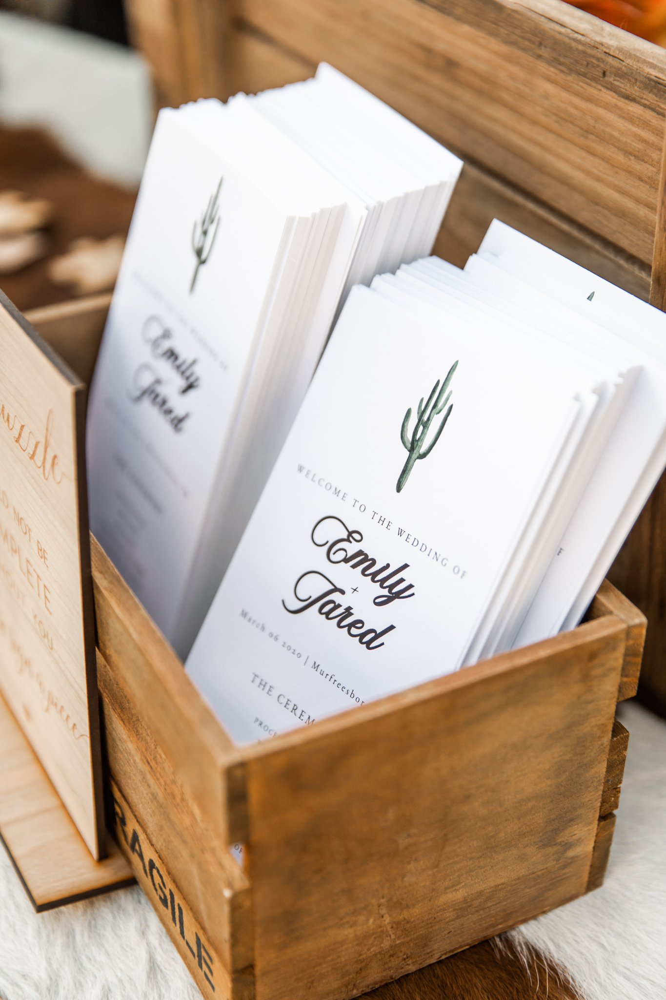 Wedding programs: Western Inspired Wedding by Laurie D'Anne Events featured on Nashville Bride Guide