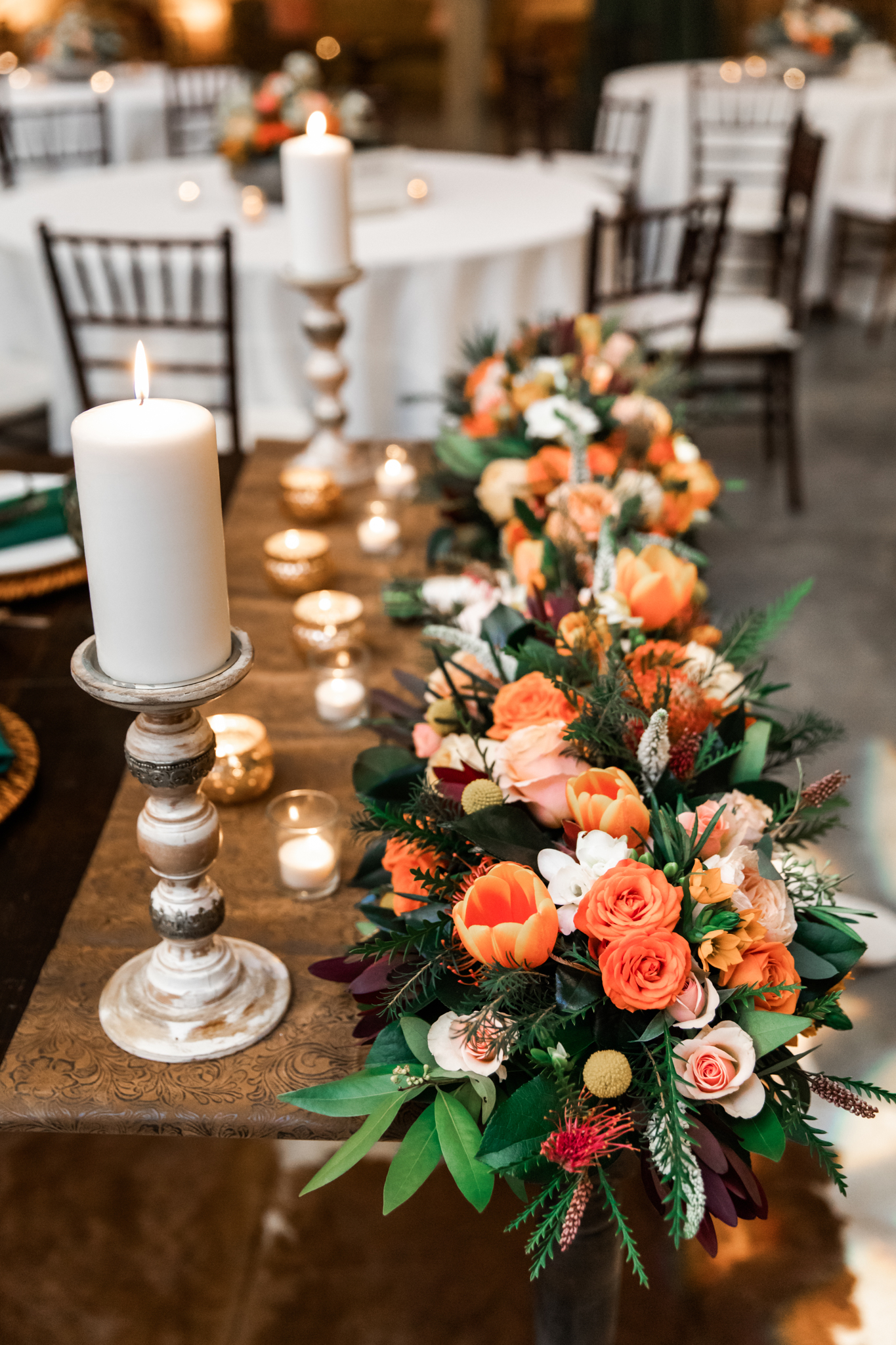 Floral wedding centerpieces: Western Inspired Wedding by Laurie D'Anne Events featured on Nashville Bride Guide