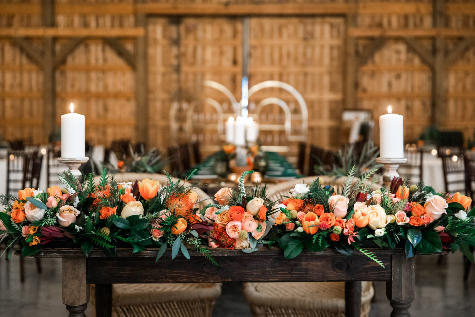 Wedding sweetheart table: Western Inspired Wedding by Laurie D'Anne Events featured on Nashville Bride Guide