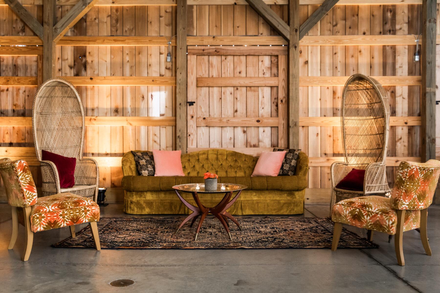 Western wedding lounge area; Desert Wedding Ideas featured on Nashville Bride Guide