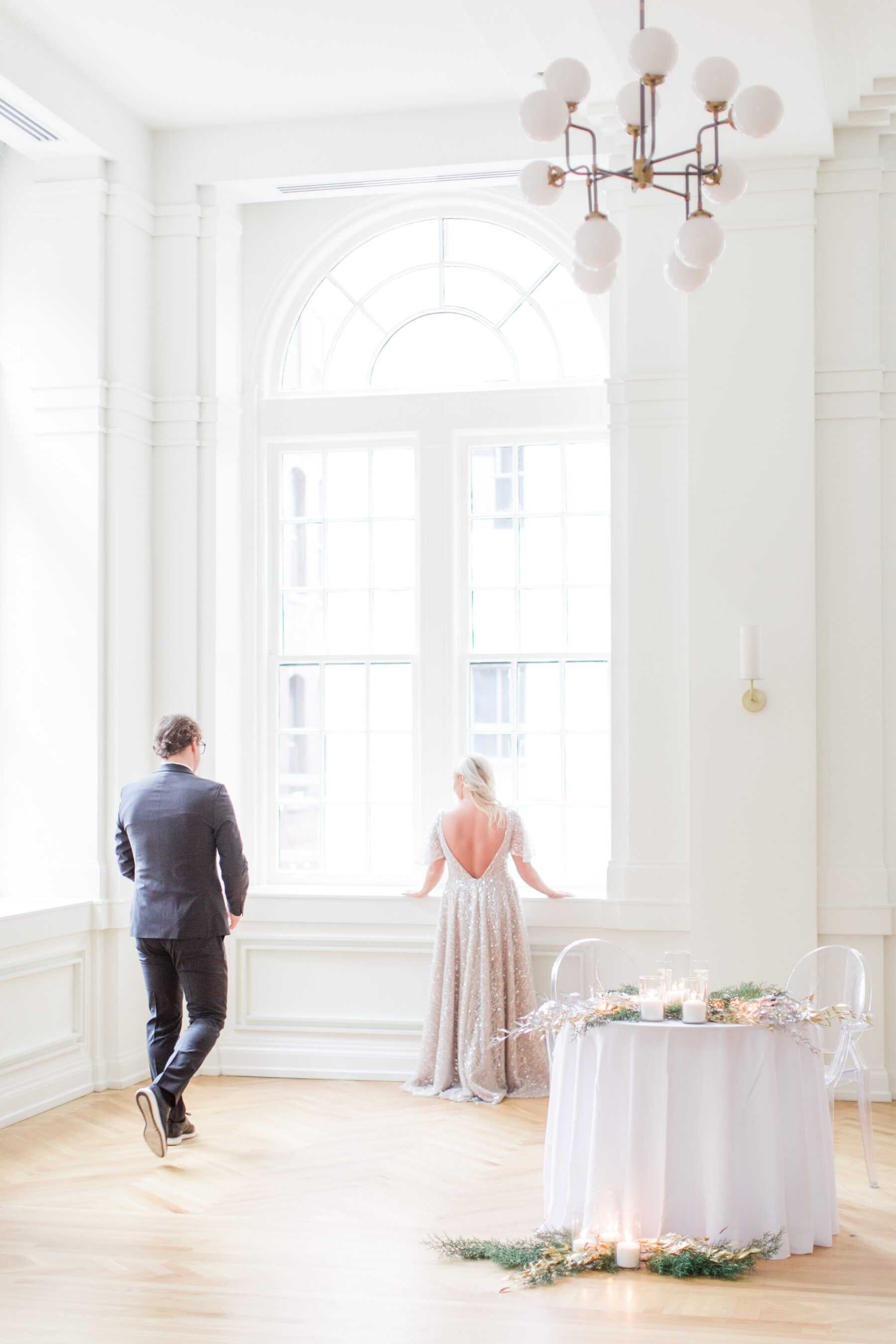 First look inspiration: Classic, Yet Modern New Years Eve Wedding Inspiration featured on Nashville Bride Guide