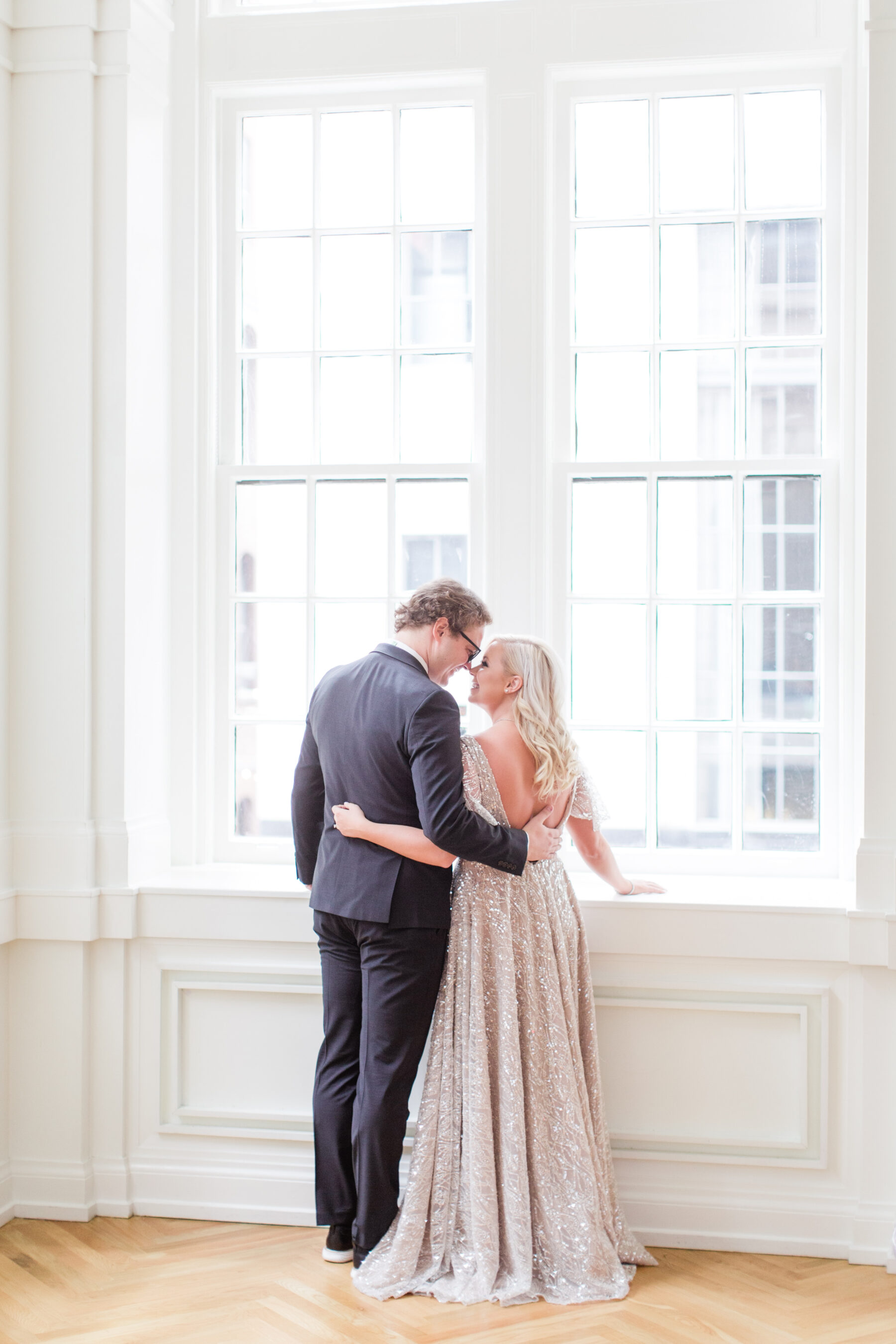 Wedding first look inspiration: Classic, Yet Modern New Years Eve Wedding Inspiration featured on Nashville Bride Guide