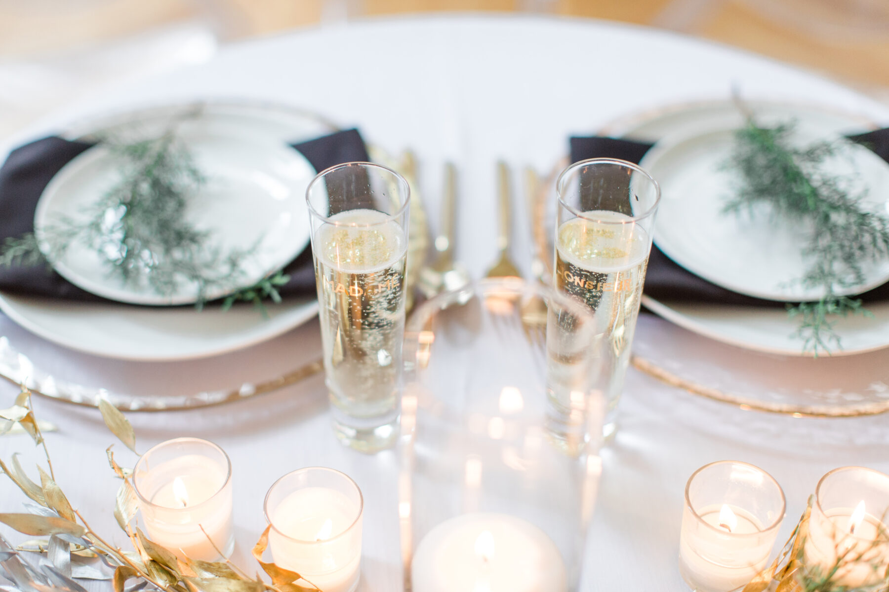 Wedding table details: Classic, Yet Modern New Years Eve Wedding Inspiration featured on Nashville Bride Guide