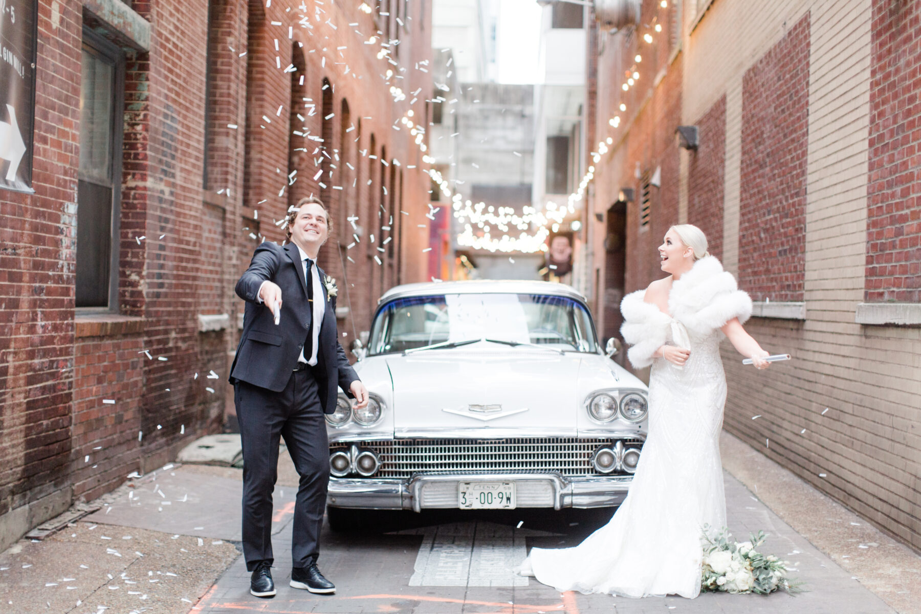 Confetti wedding photos: Classic, Yet Modern New Years Eve Wedding Inspiration featured on Nashville Bride Guide