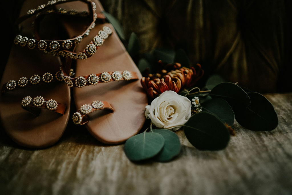 Boho Sandal Bridal Shoe: Boho Barn Wedding by Melissa Marie Floral Designs