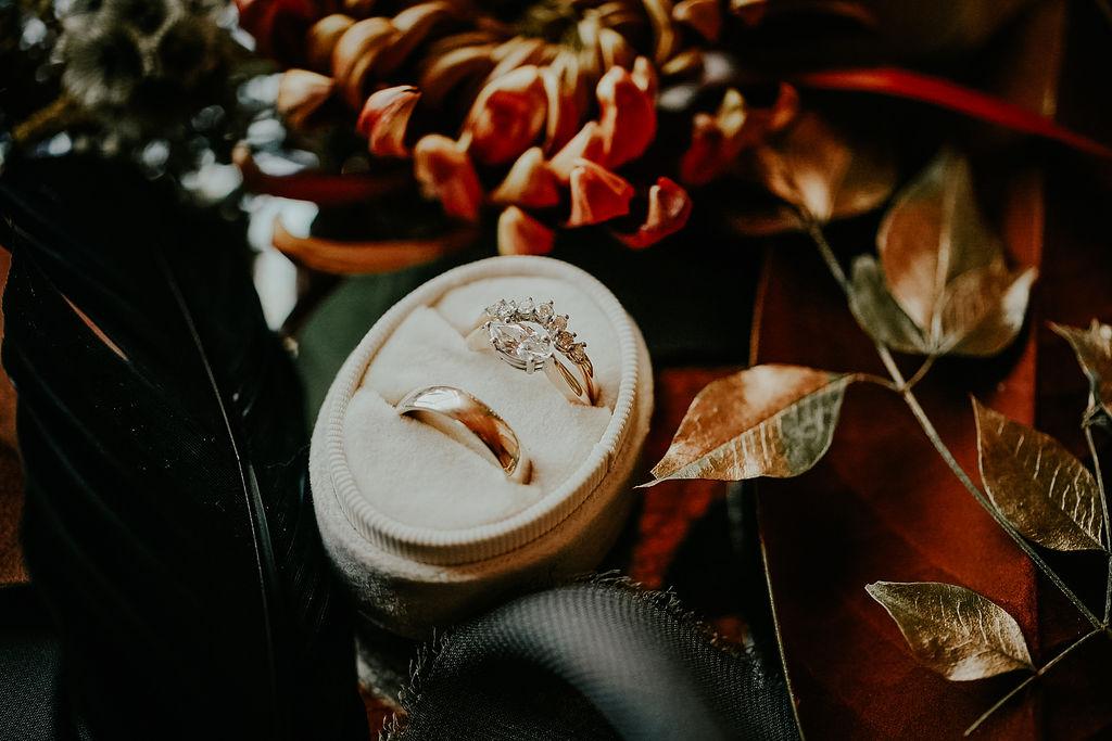 Wedding ring box: Boho Barn Wedding by Melissa Marie Floral Designs