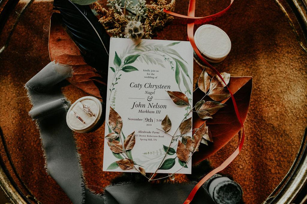 Bohemian wedding stationery: Boho Barn Wedding by Melissa Marie Floral Designs