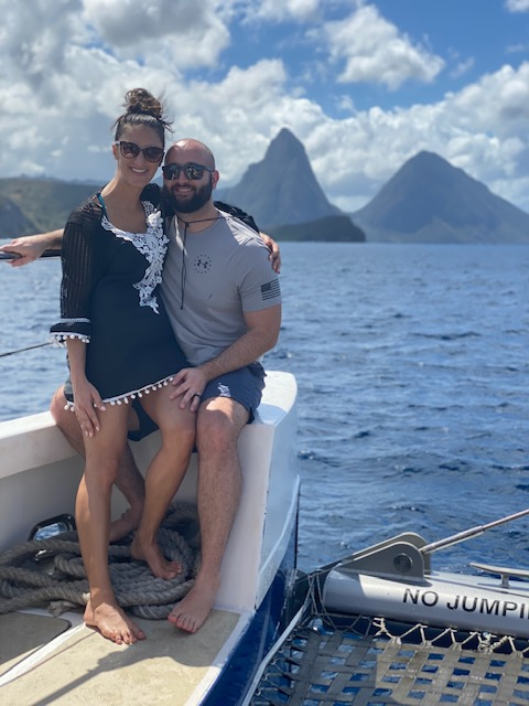 Catamaran Cruise: St. Lucia Honeymoon from 2 Travel Anywhere featured on Nashville Bride Guide