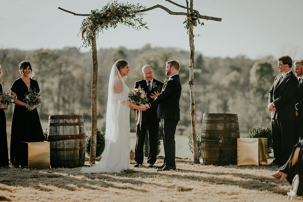 Boho outdoor wedding ceremony: Glenai Gilbert Photography featured on Nashville Bride Guide