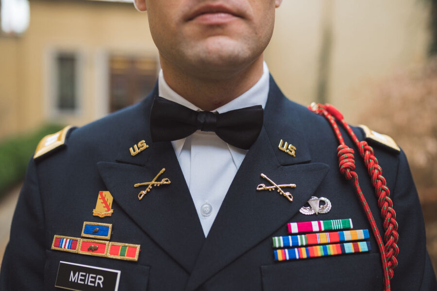 Groom's military attire: Classic Winter Wedding by Details Nashville