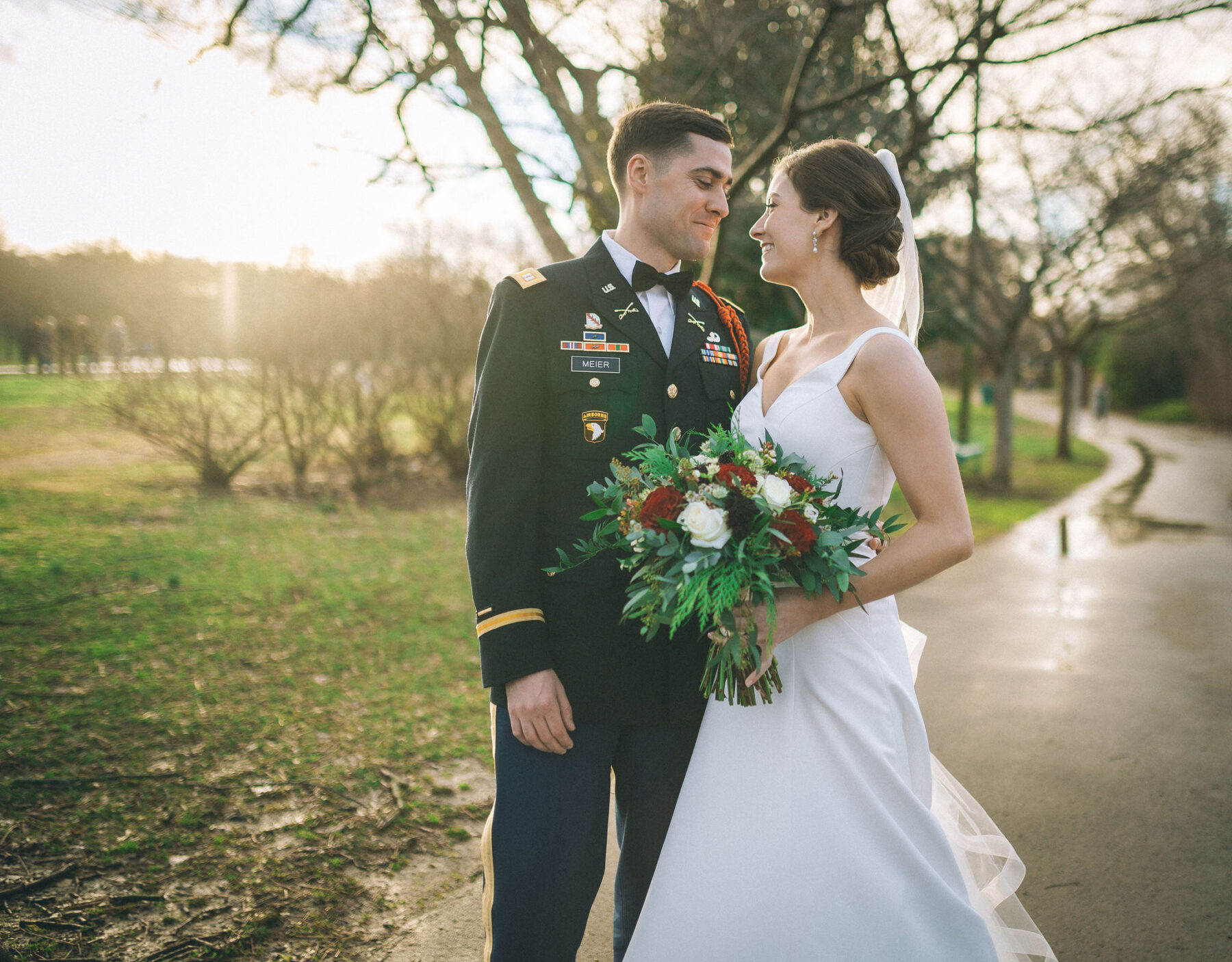 Military Nashville wedding featured on Nashville Bride Guide