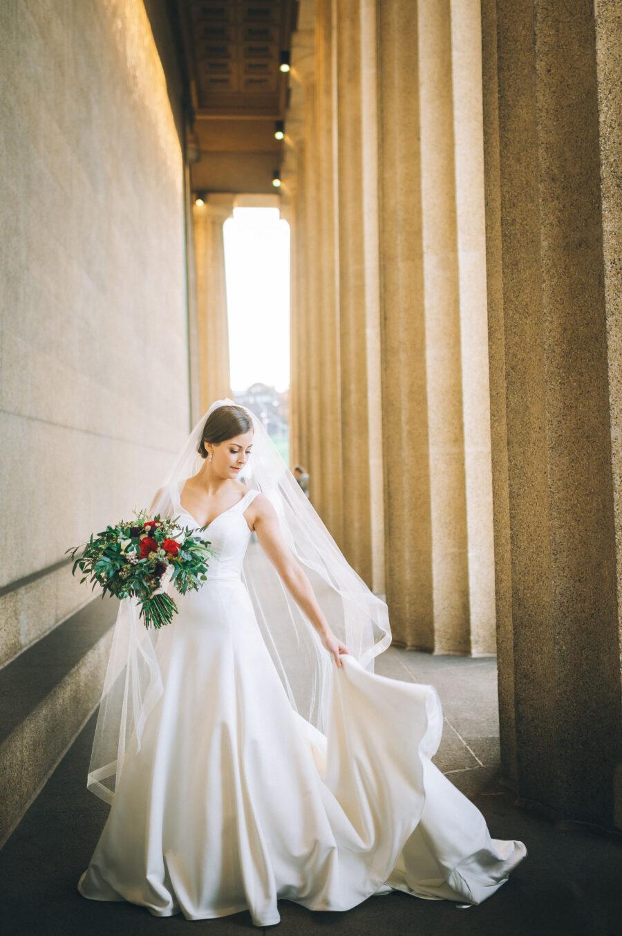 Bridal portrait: Classic Winter Wedding by Details Nashville