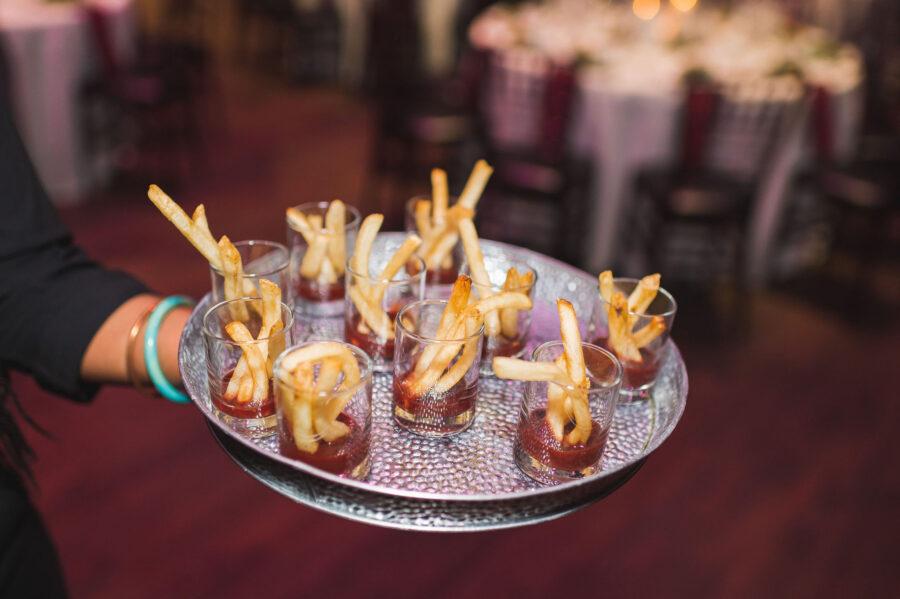 Wedding cocktail hour food: Classic Winter Wedding by Details Nashville