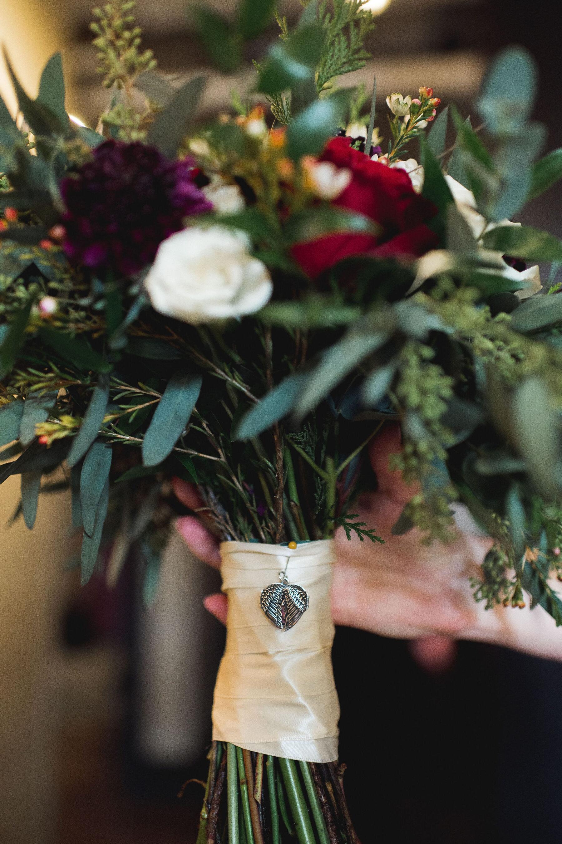 Wedding bouquet details: Classic Winter Wedding by Details Nashville