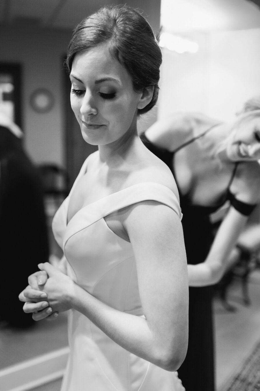 Black and white wedding portrait: Classic Winter Wedding by Details Nashville