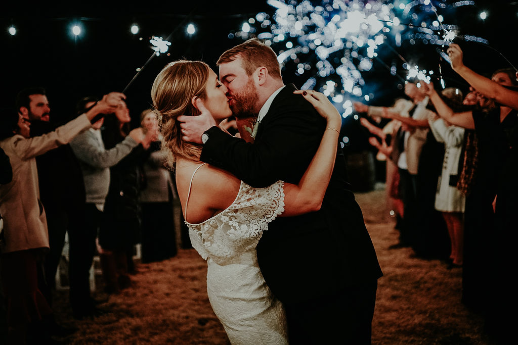 Firework wedding exit: Glenai Gilbert Photography featured on Nashville Bride Guide