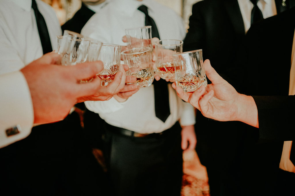Groom and groomsmen toast: Glenai Gilbert Photography featured on Nashville Bride Guide