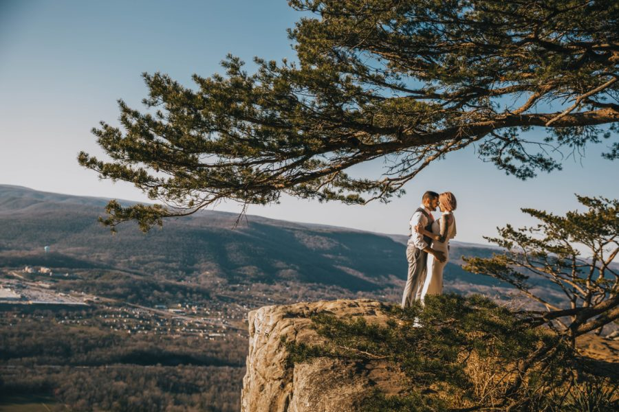 Mountaintop Elopement featured on Nashville Bride Guide