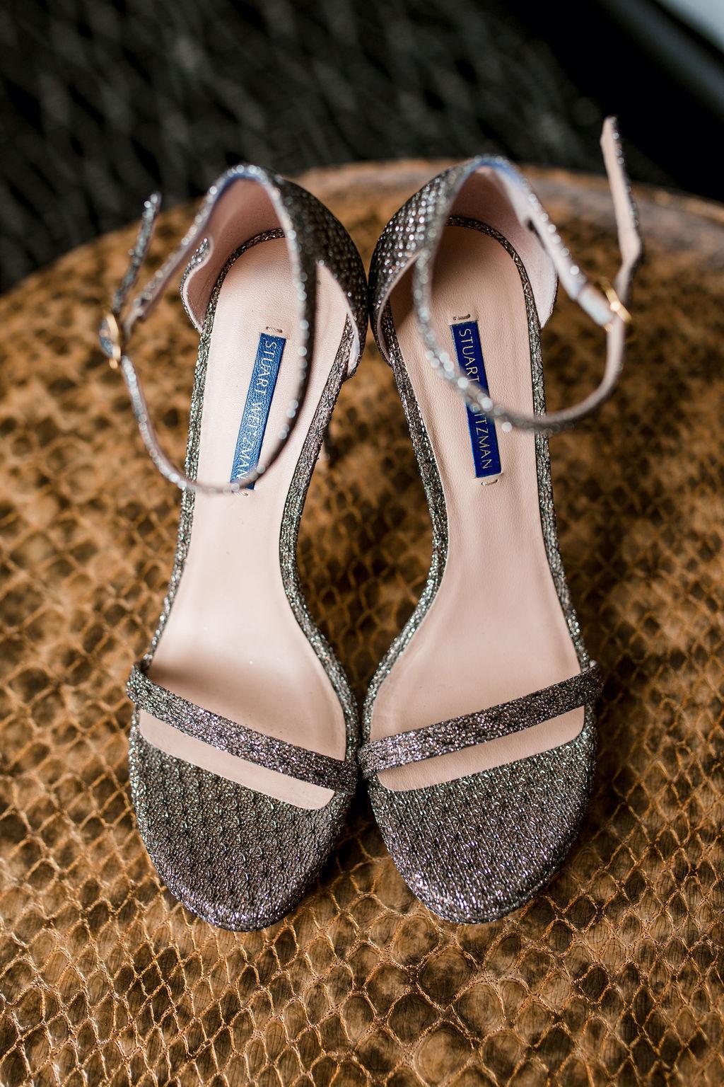 Strappy Wedding Shoes: Lavish Union Station Hotel Wedding featured on Nashville Bride Guide