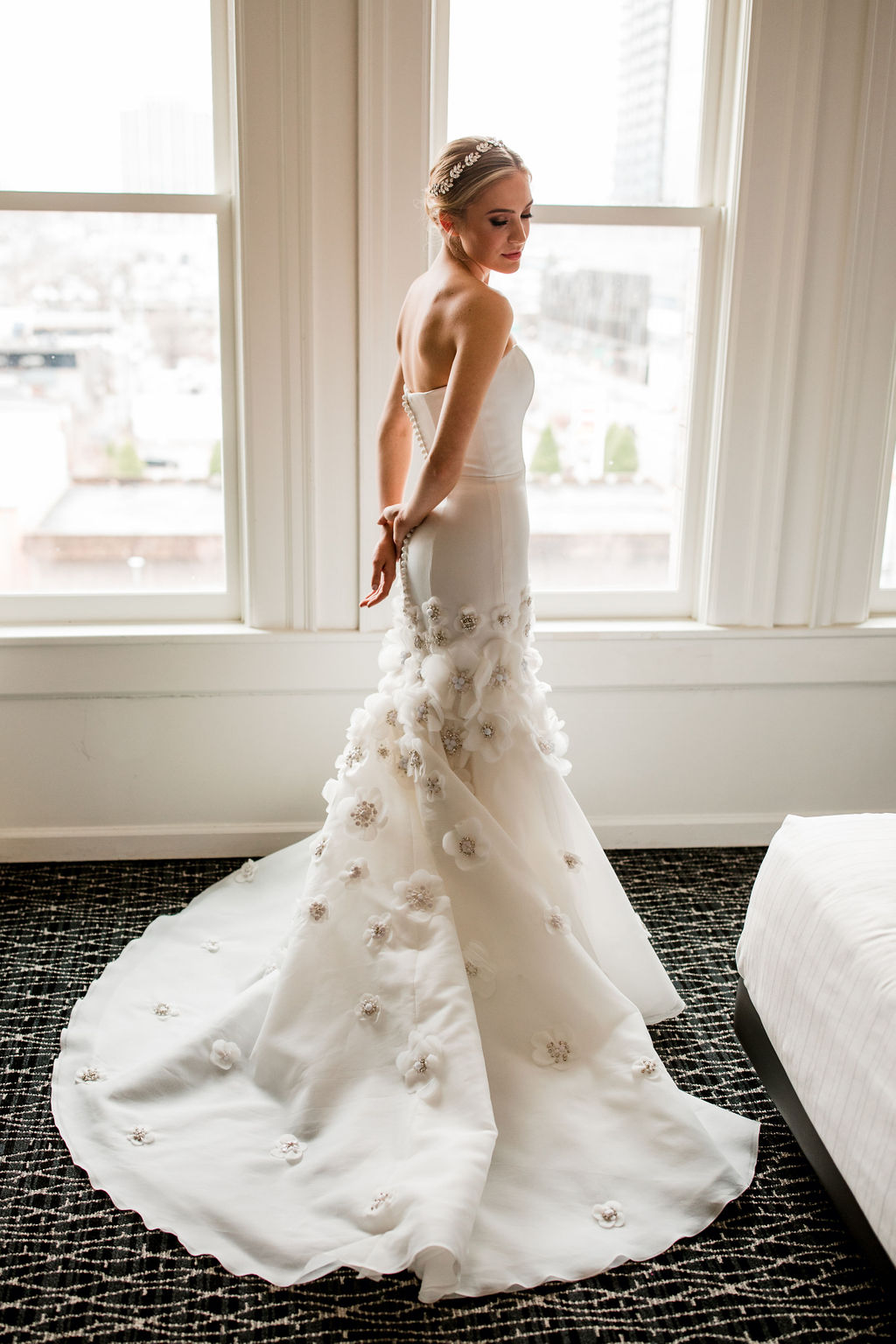 Modern wedding dress: Lavish Union Station Hotel Wedding featured on Nashville Bride Guide