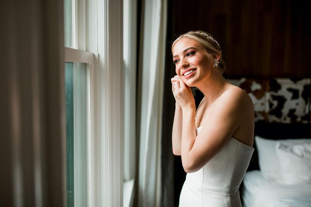 Bridal portrait: Lavish Union Station Hotel Wedding featured on Nashville Bride Guide