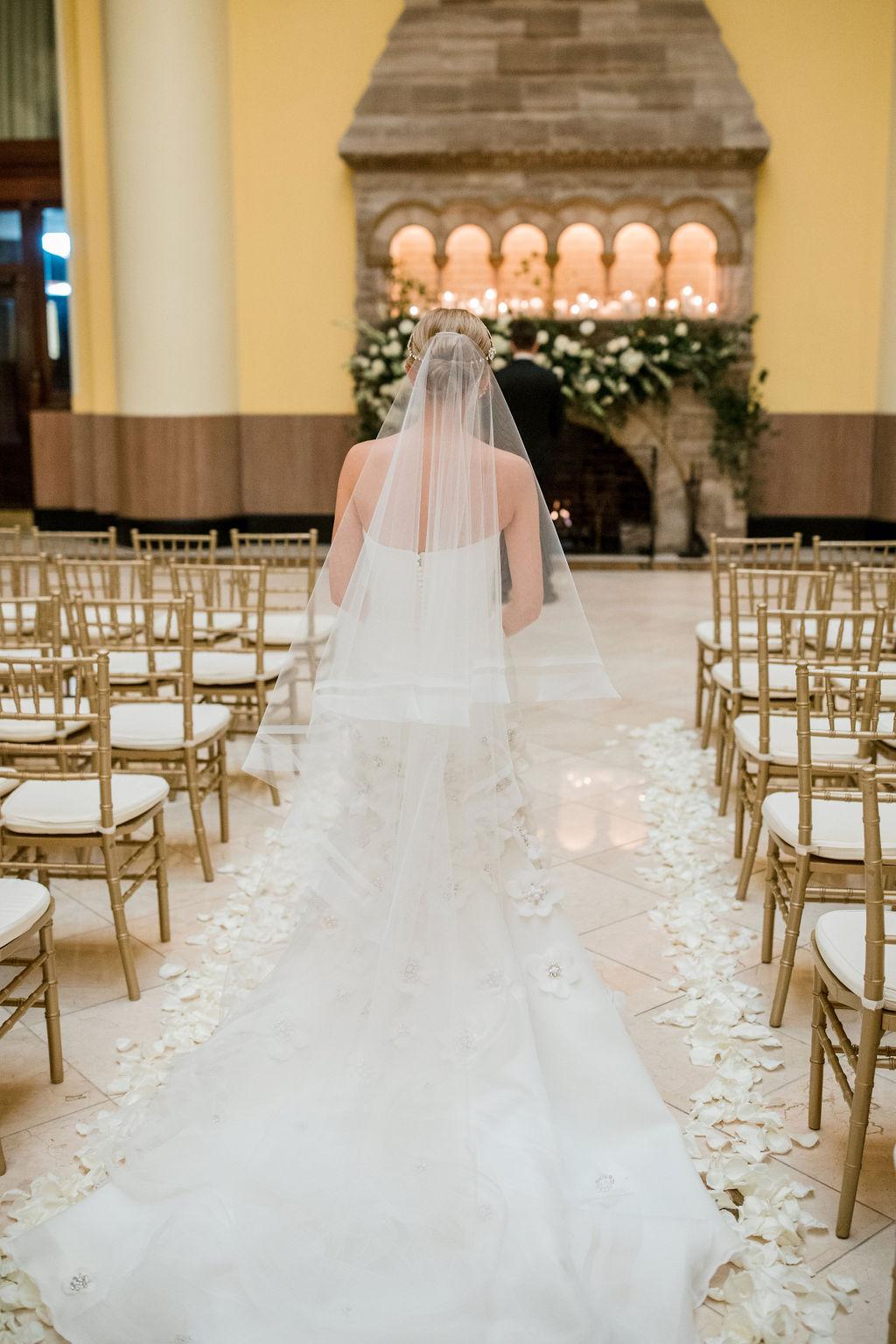 Wedding first look: Lavish Union Station Hotel Wedding featured on Nashville Bride Guide