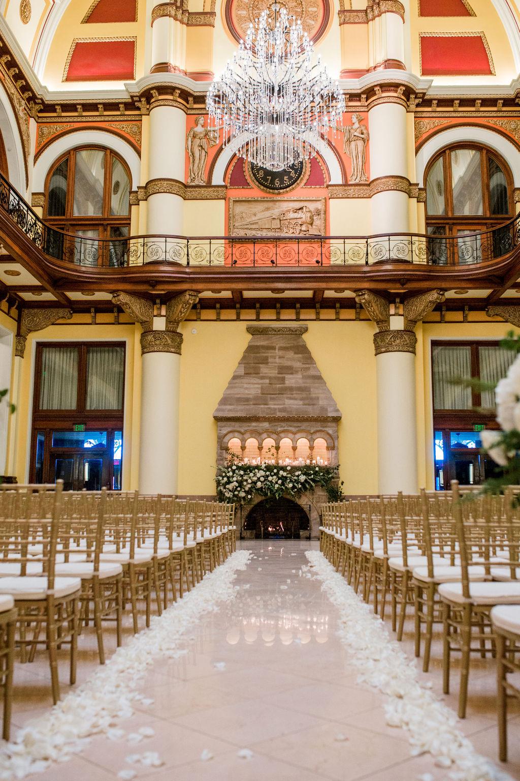 Lavish Union Station Hotel Wedding featured on Nashville Bride Guide