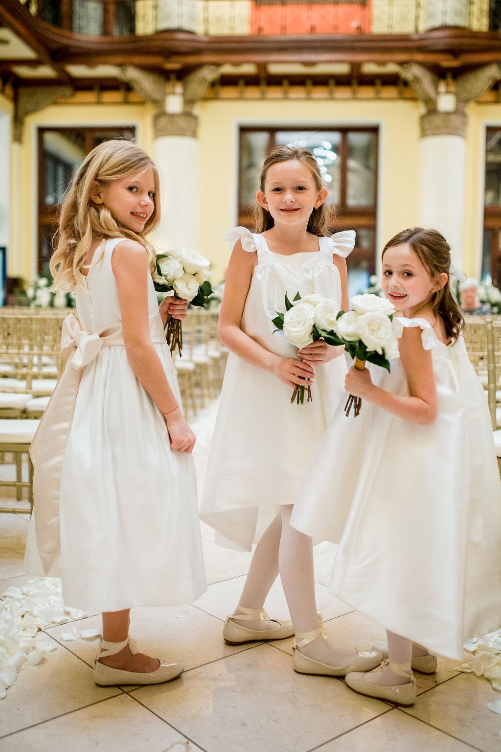 Flower girl dresses: Lavish Union Station Hotel Wedding featured on Nashville Bride Guide