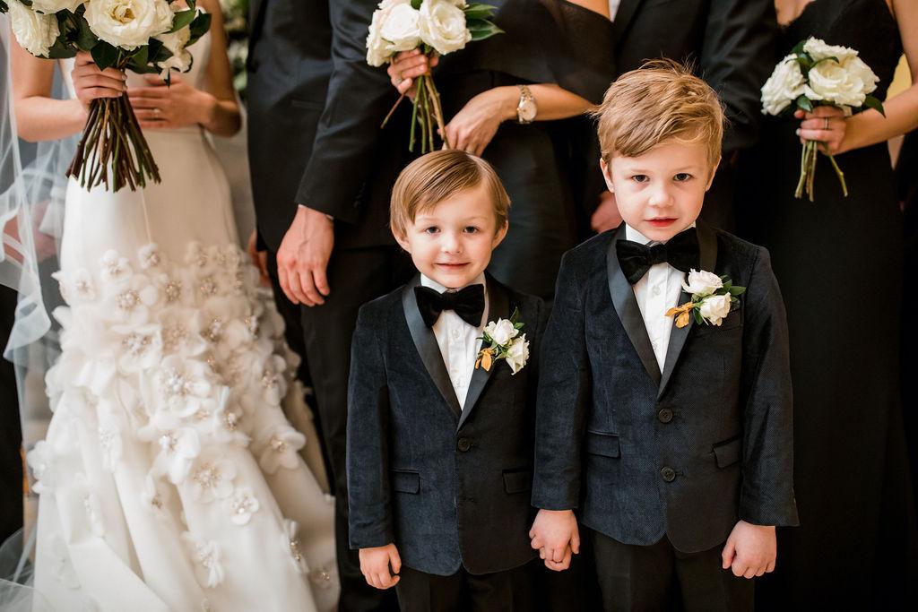 Ring bearer tuxedos: Lavish Union Station Hotel Wedding featured on Nashville Bride Guide